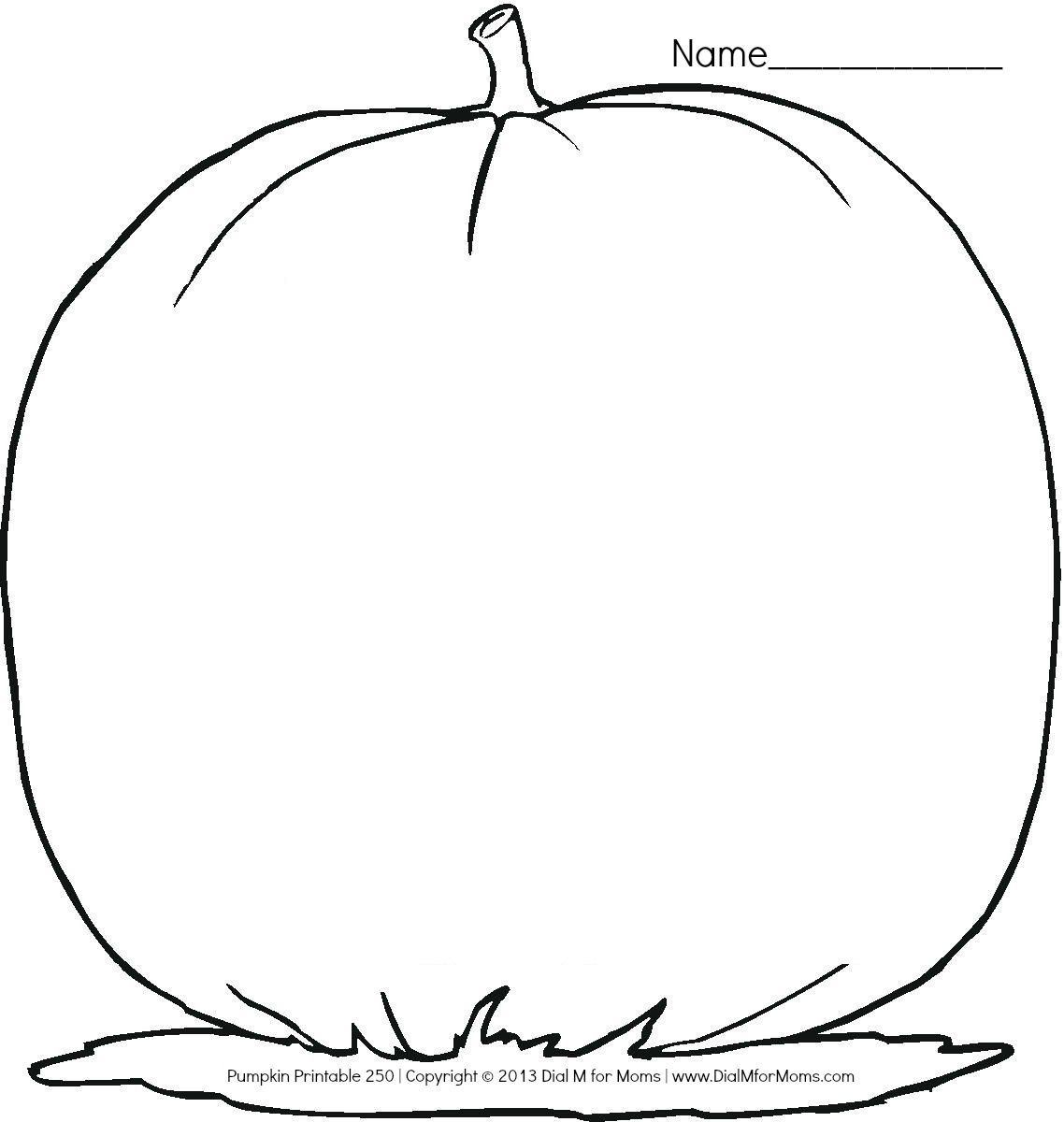 printable pumpkin outline coloring home