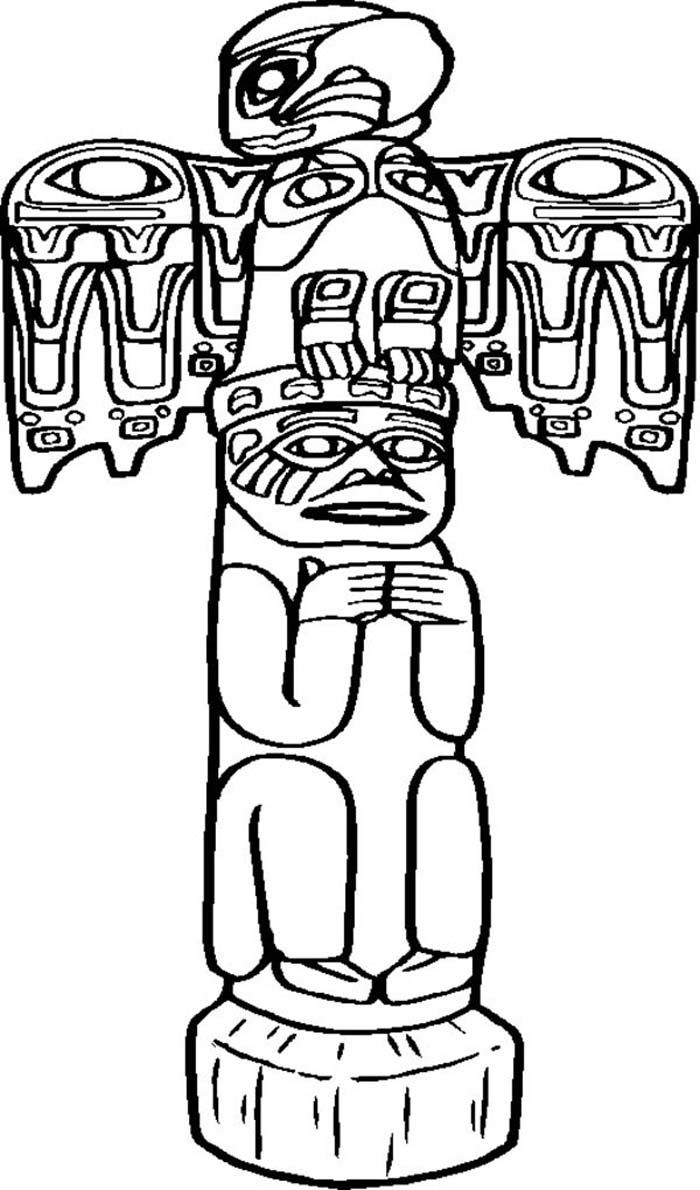 totem pole coloring pages - photo#20