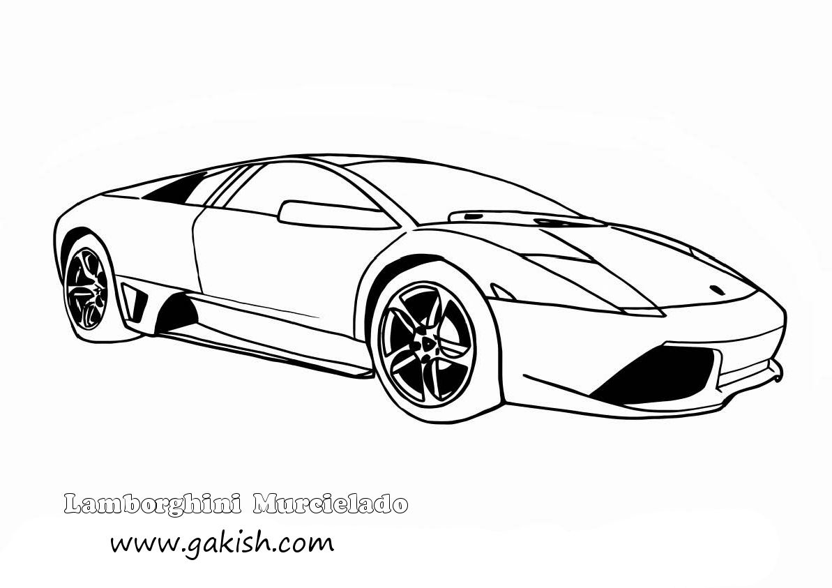 Lamborghini Coloring Pages To Print Coloring Home