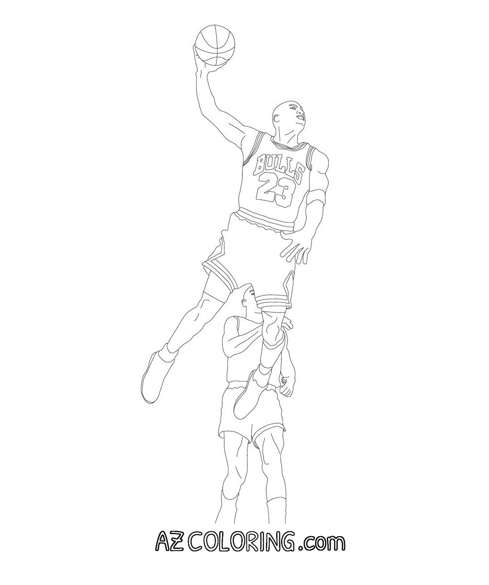 michael jordan coloring pages free - photo #48
