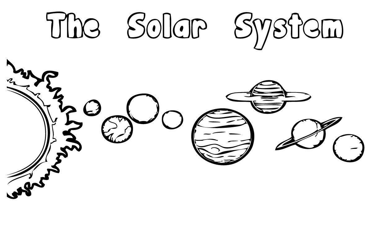 solar system outline printable - photo #22