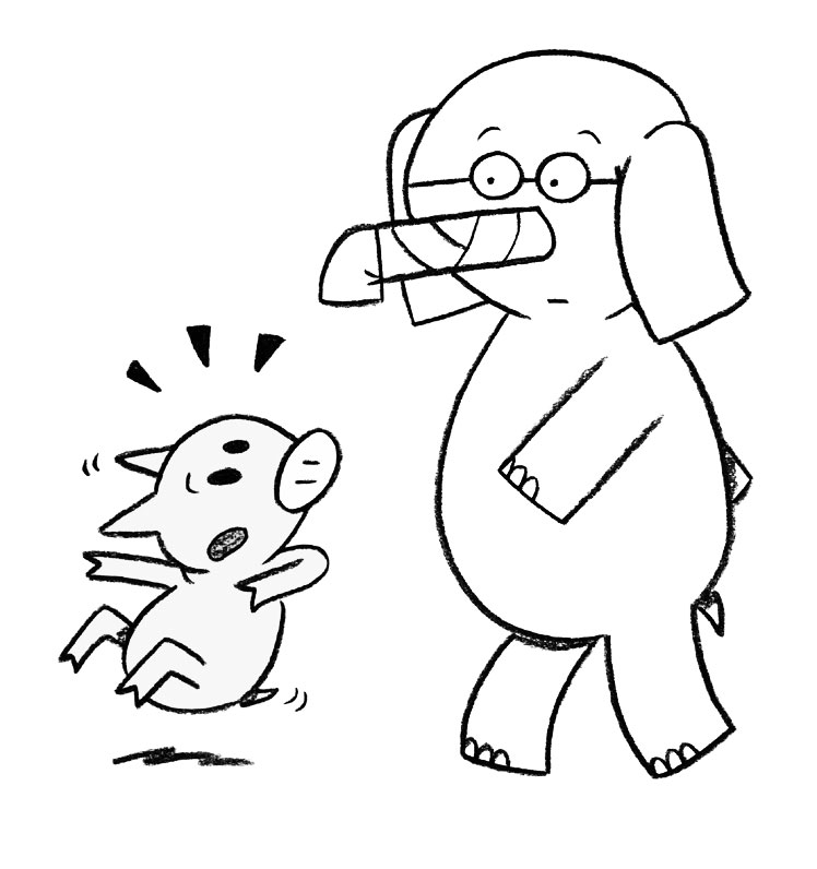 piggy and elephant coloring pages - photo#18