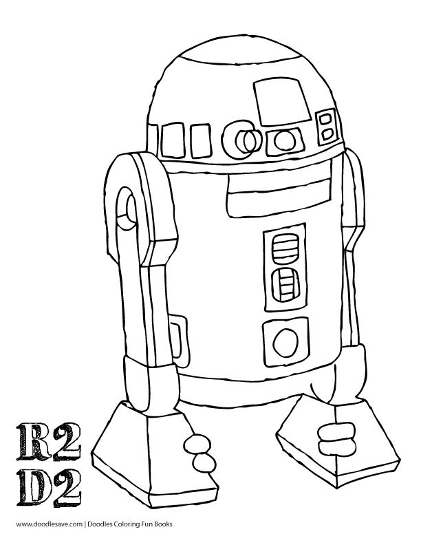 r2d2 coloring pages - photo #22