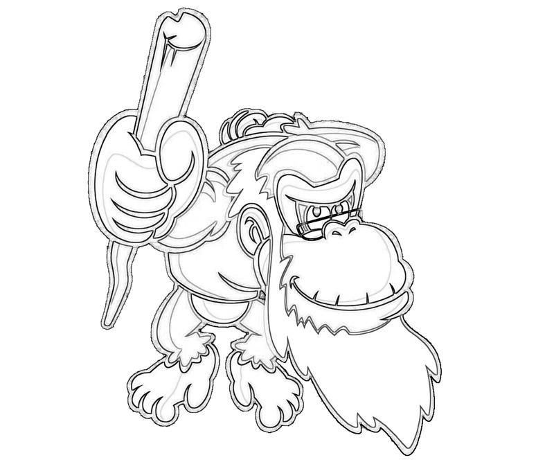 Donkey Kong Coloring Pages Printable - Coloring Home