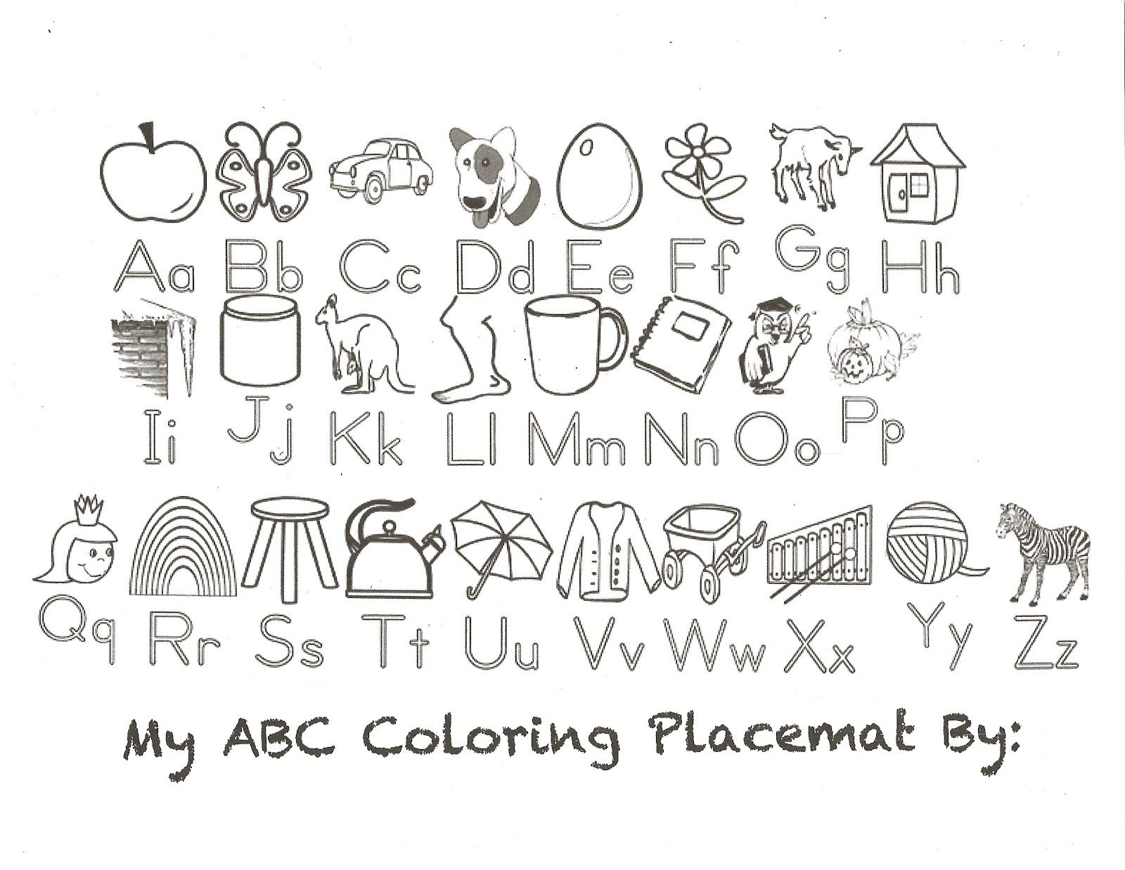 Halloween Alphabet Coloring Pages Download Printable - oukas.info