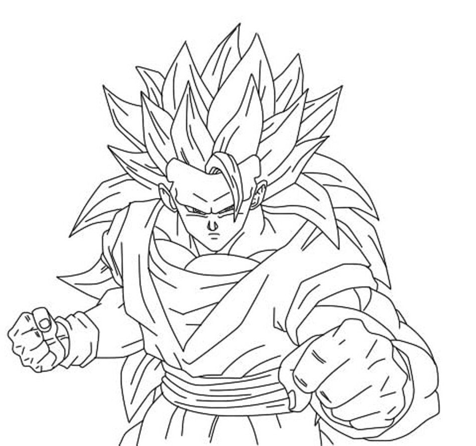 free dbz online coloring pages | Goku Printable Coloring Pages - Coloring Home