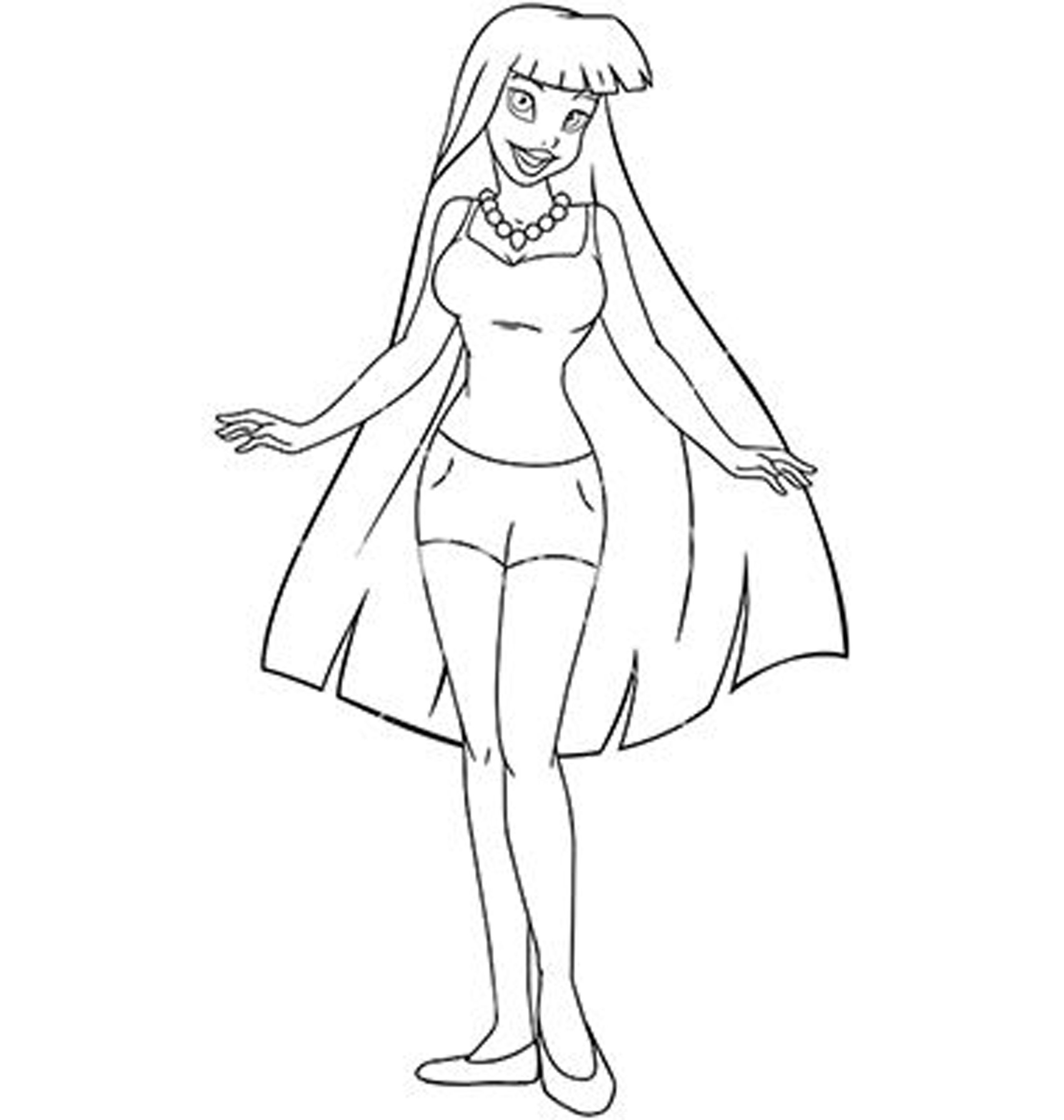 free fashion girl coloring pages - photo#17
