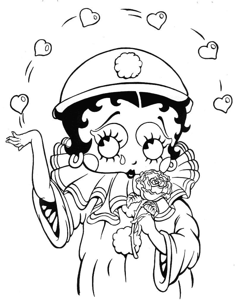 Free Betty Boop Coloring Pages - Coloring Home