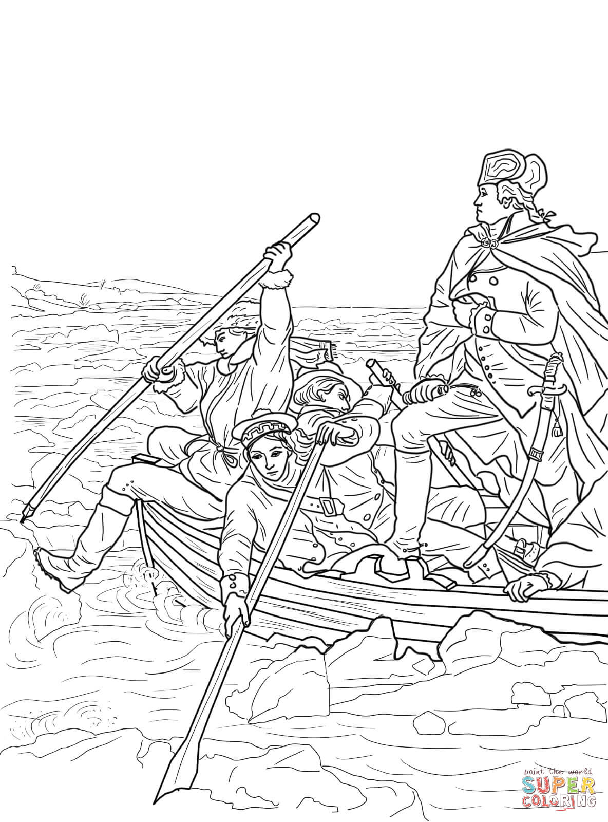 coloring pages of george washington - photo#13