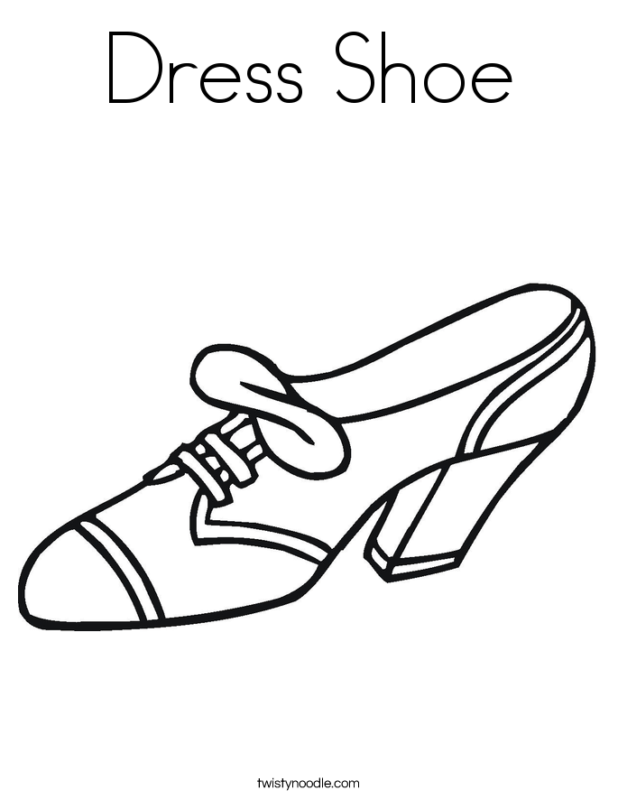Clothing and Shoe Coloring Pages - Twisty Noodle