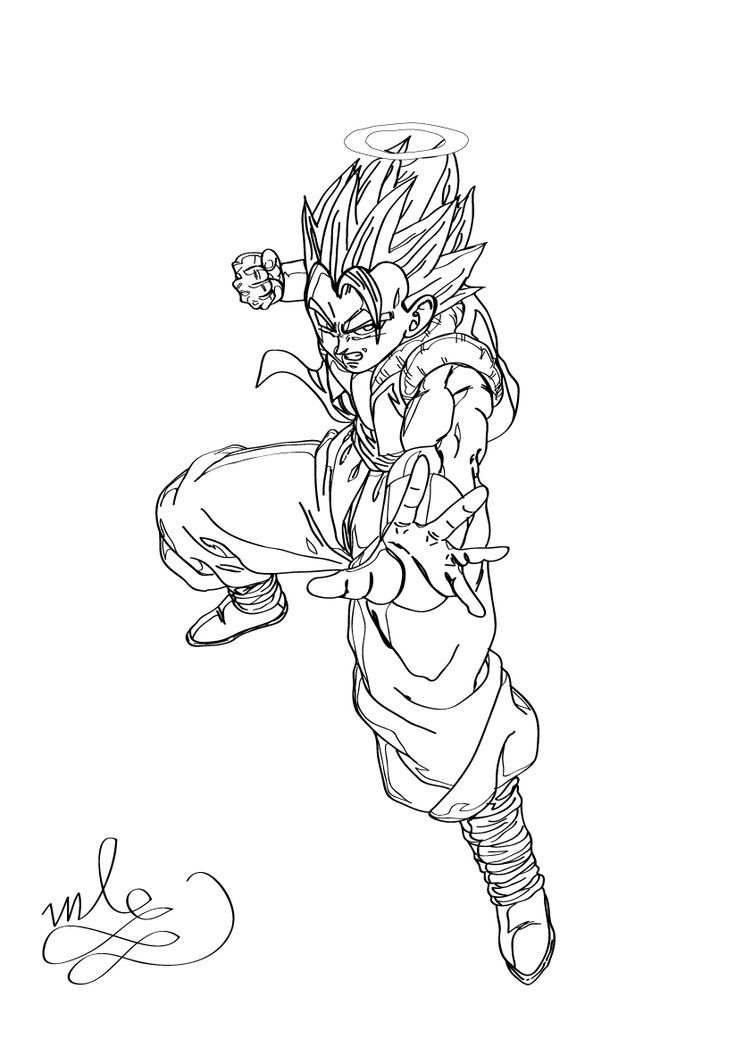 Dragon Ball Z - Gogeta Coloring Page by maantje007 on DeviantArt