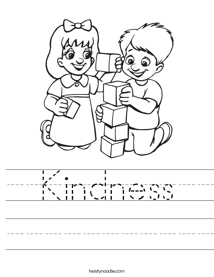 kindness coloring pages free - photo#7