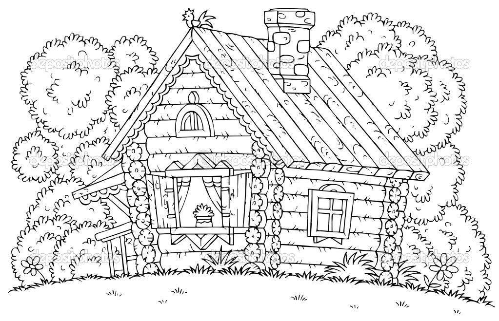 log coloring pages - log cabin coloring pages coloring home
