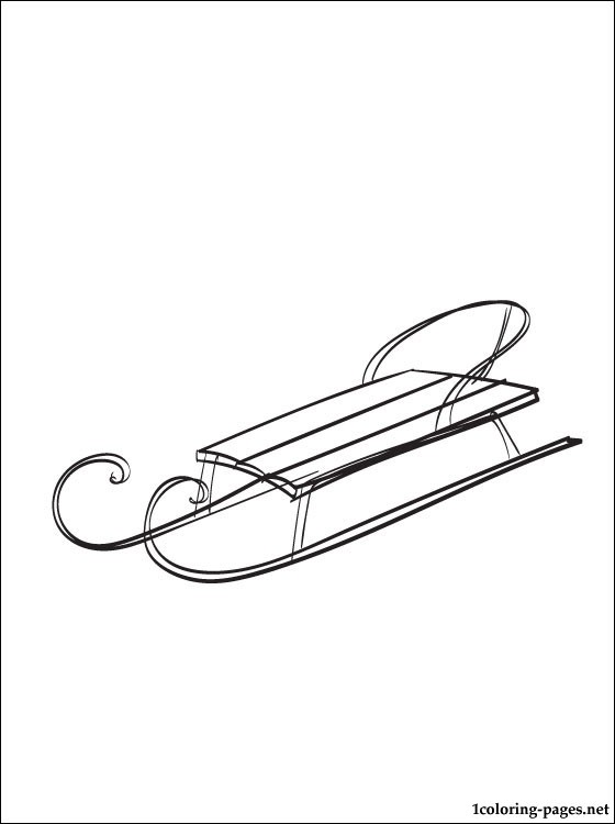 Sled coloring page | Coloring pages