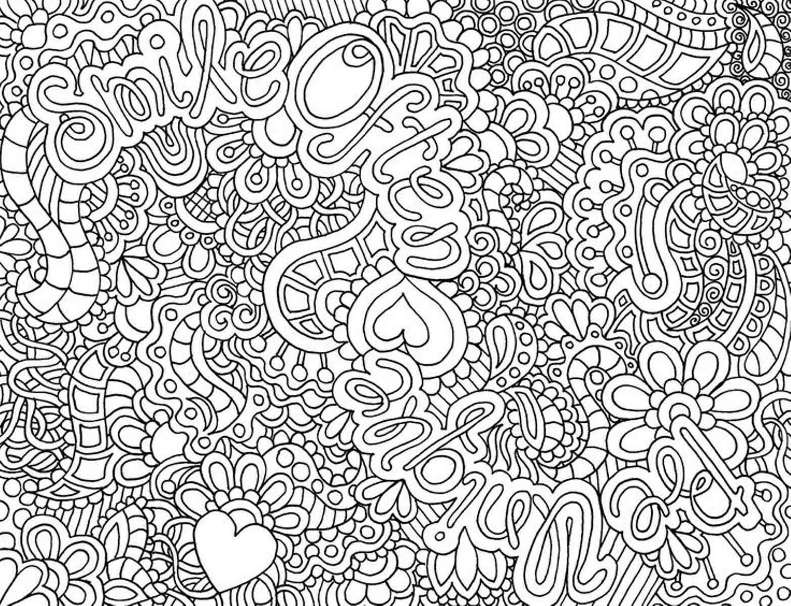 Coloring In Sheets : Printable Adult Coloring Pages Abstract AZ Coloring Pages