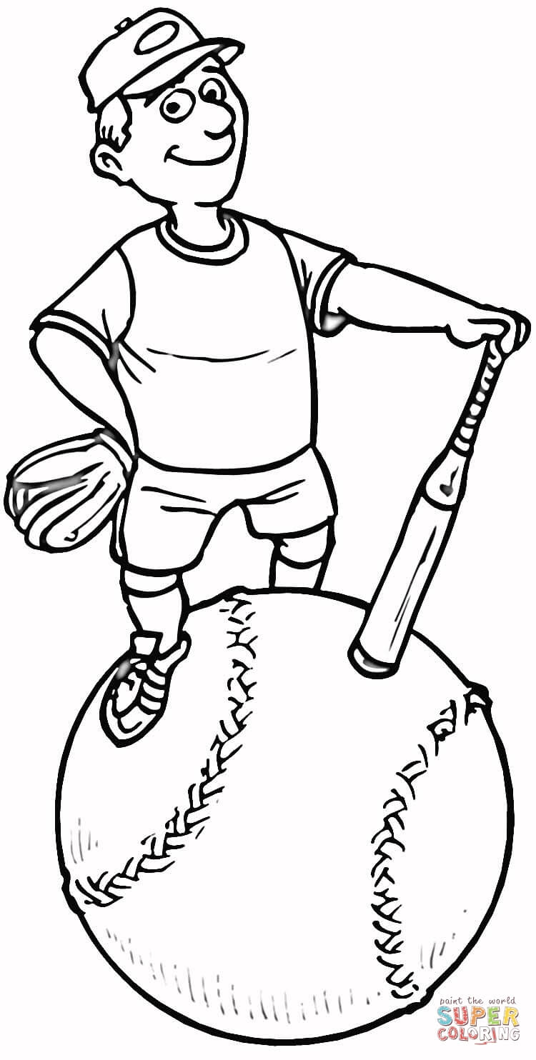 softball coloring pages - photo #9