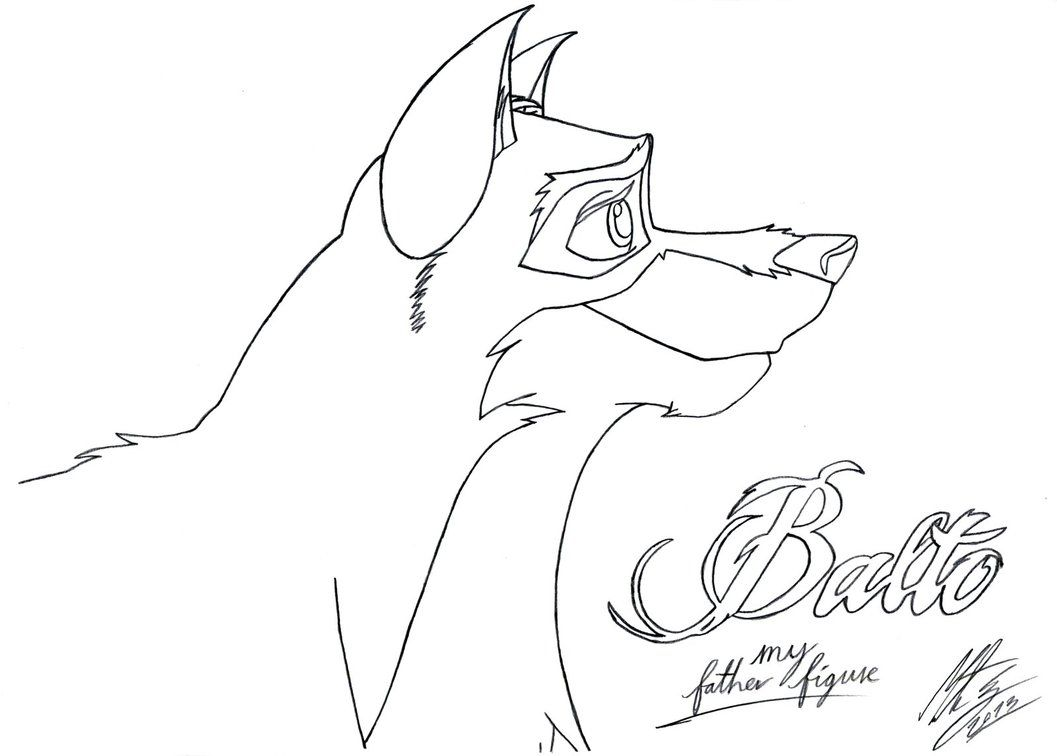 balto coloring pages online - photo#15