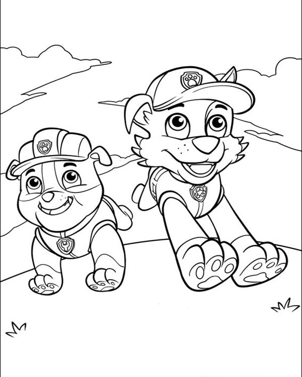Printable Coloring Pages Of Paw Patrol : Paw patrol rocky coloring pages