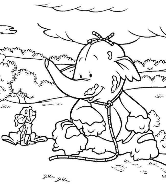 lumpy the heffalump coloring pages coloring home