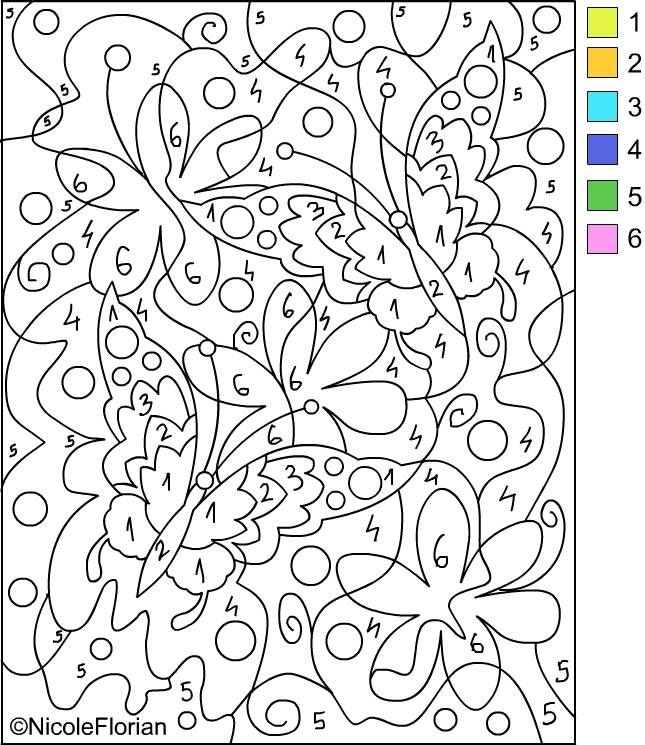 Color By Number Pages For Adults Free Printable Paintnumbers For Adults  Coloring Home