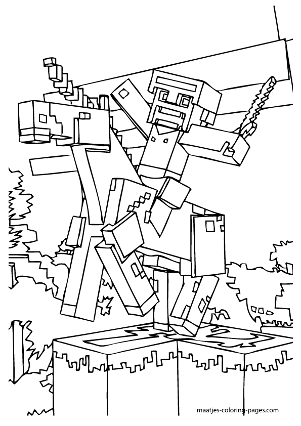 Printable Minecraft Coloring Pages