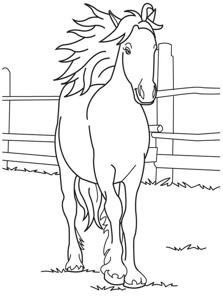 Barbie Horse Coloring Page - Coloring Home