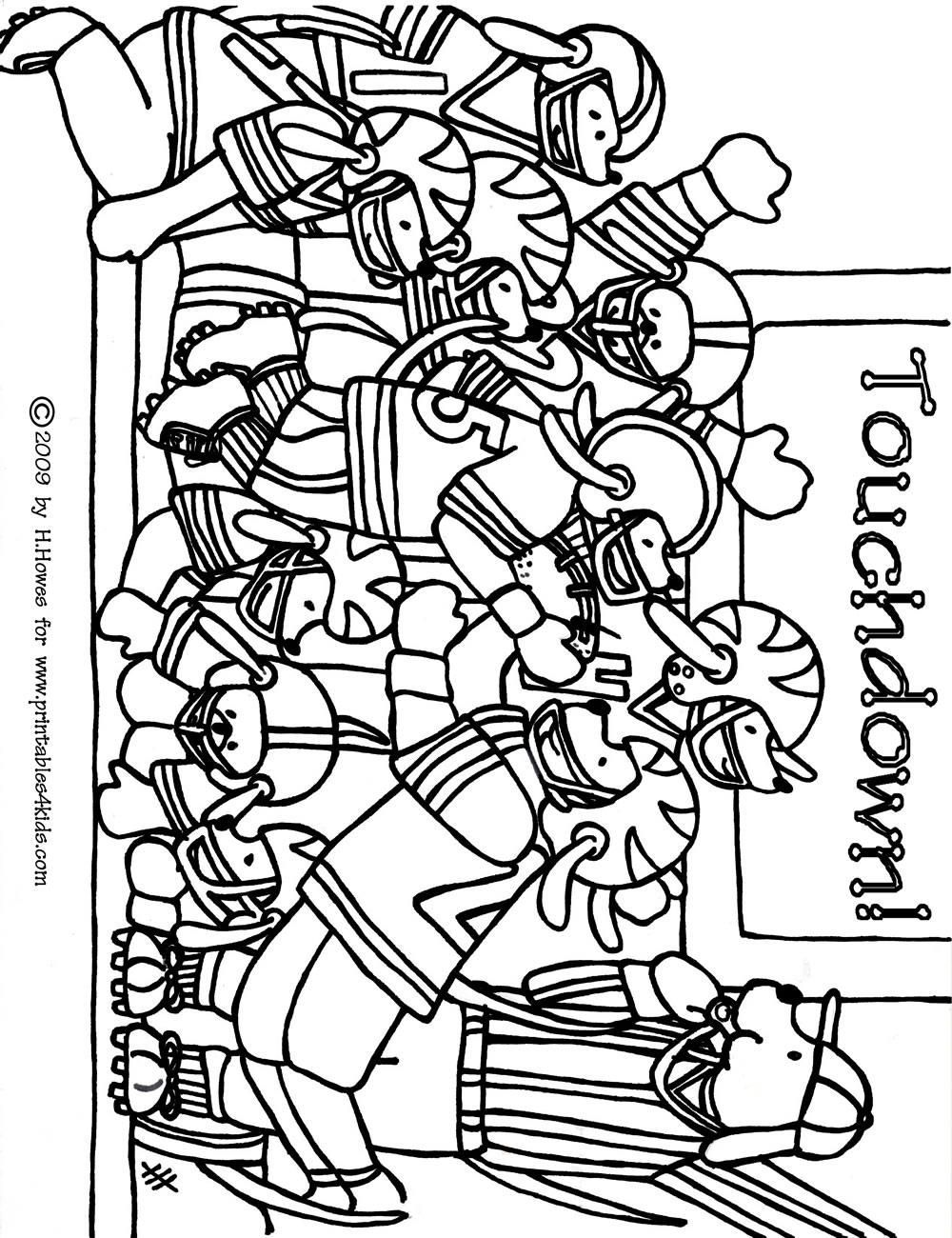 Football coloring pages printable coloring home for Coloring pages of football