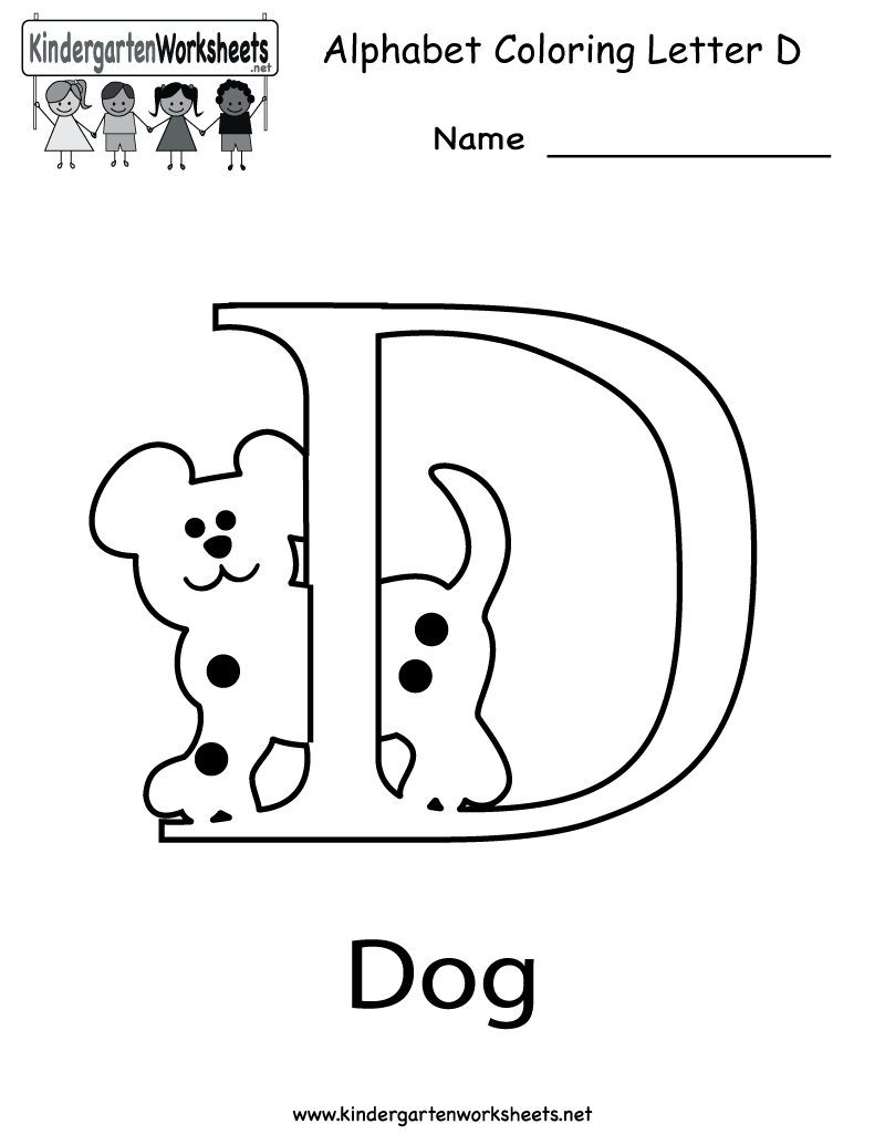 Coloring sheet letter d - Letter D Dog Coloring Sheet Letter D Coloring Pages Preschool