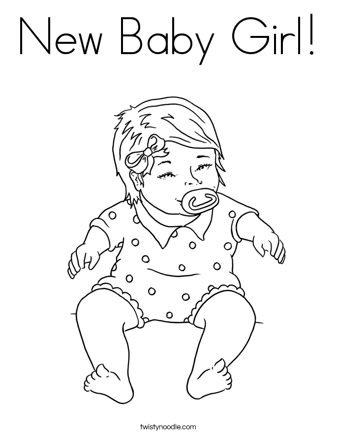 new baby girl coloring page twisty noodle - Baby Girl Coloring Pages Print