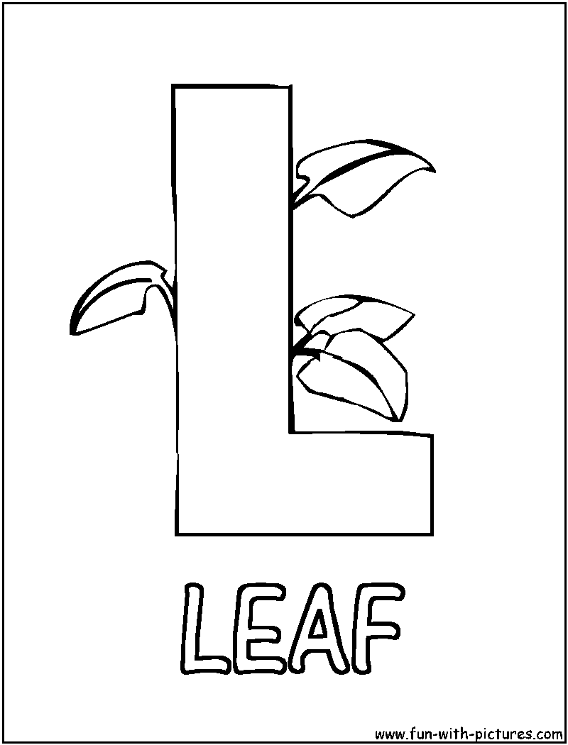 l alphabet coloring pages - photo #35