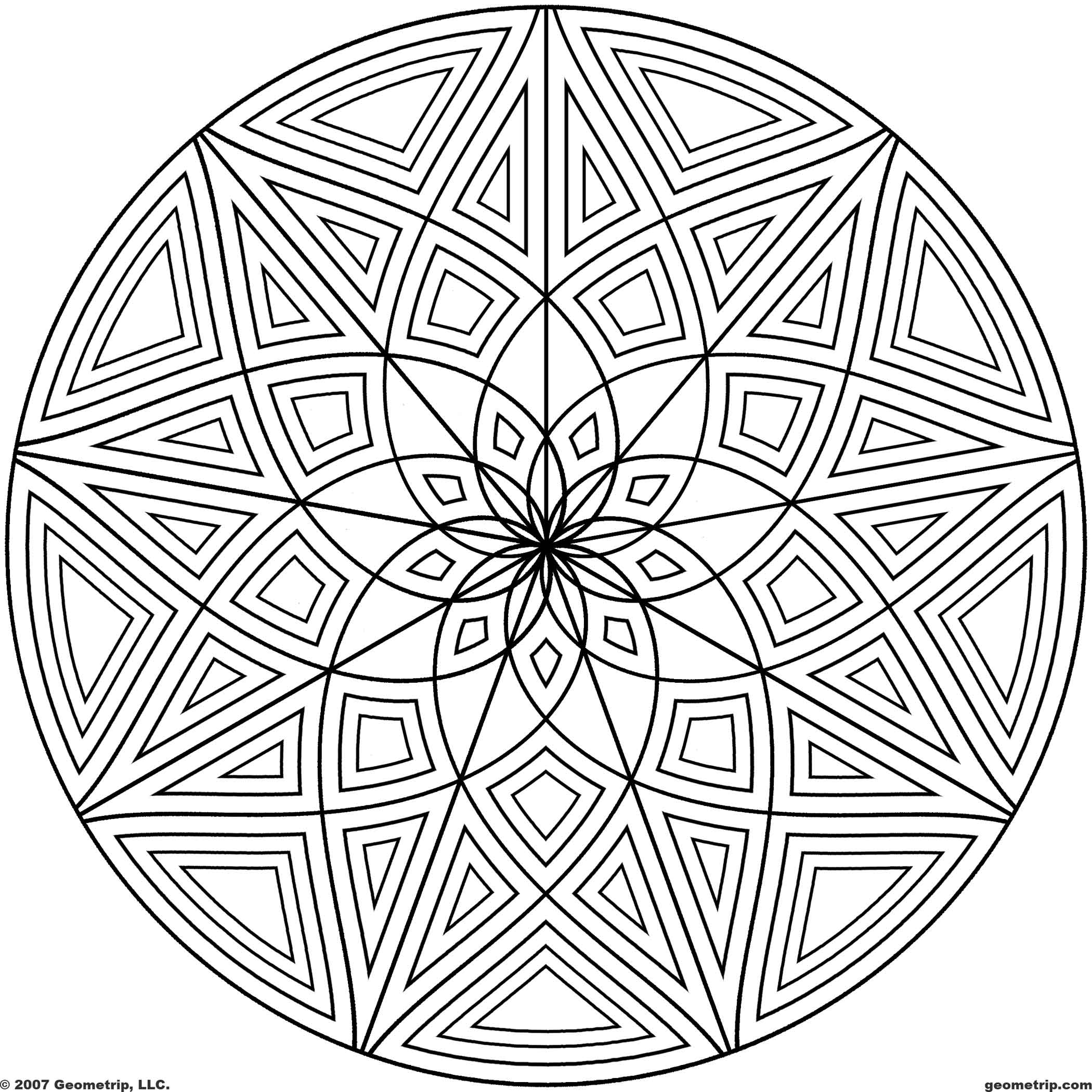 Geometric Design Coloring Page Coloring Home