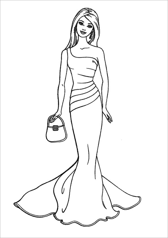 Intrepid image intended for free printable barbie coloring pages