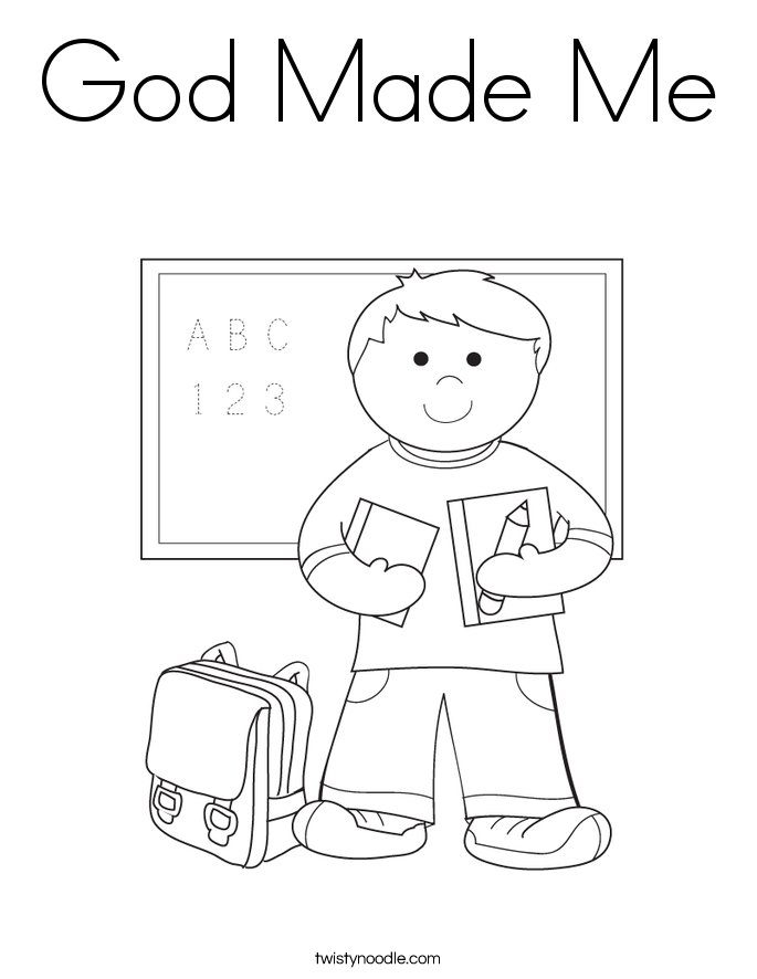 god made coloring pages - photo#9