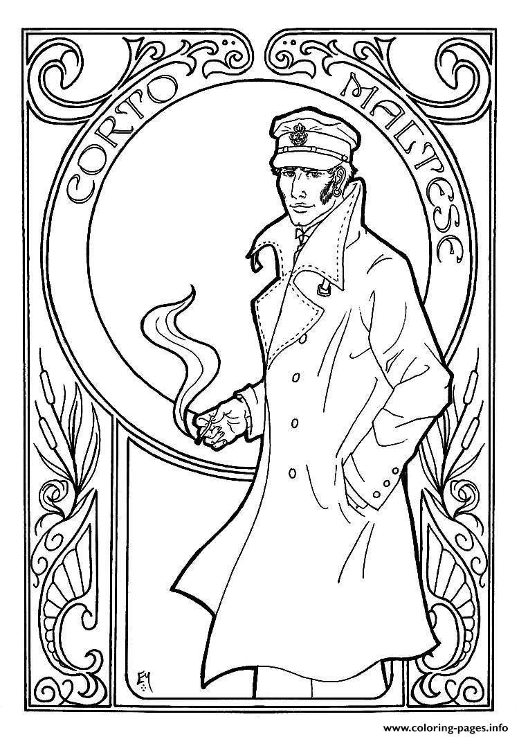 Art Nouveau Coloring Pages Coloring