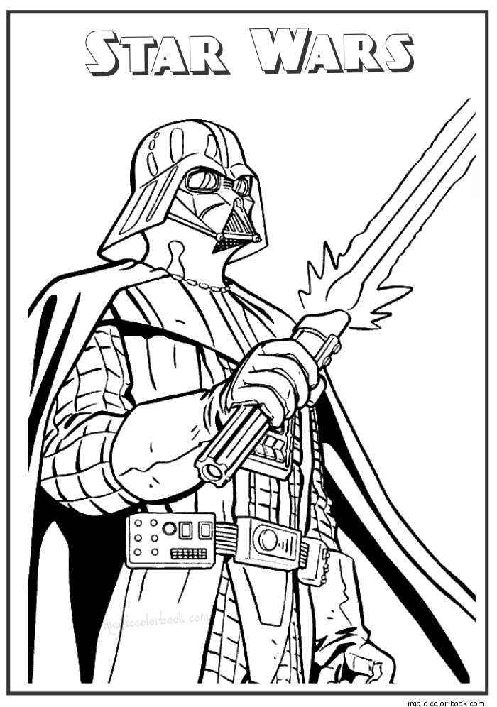 Magic Color Book €� Star Wars Free Printable Coloring Pages 16 -  Coloring Home