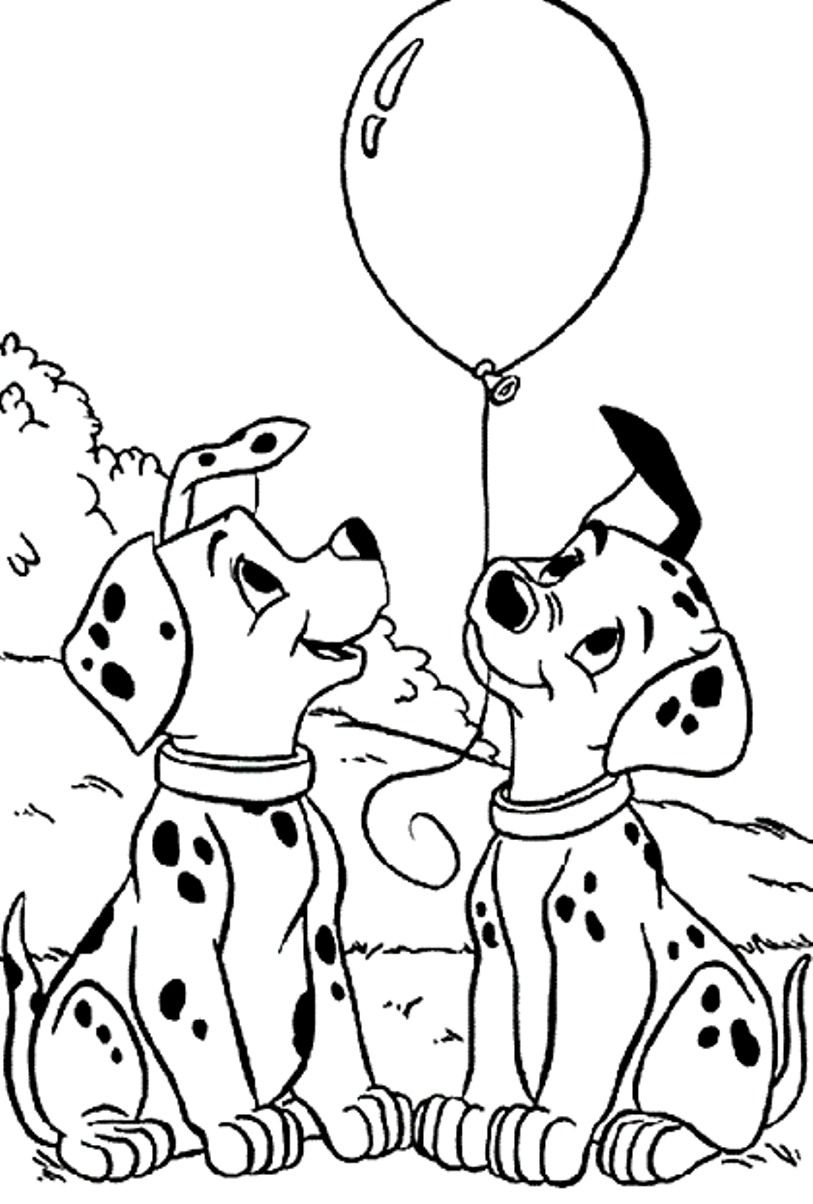 101 Dalmatians Snow Coloring Pages - Coloring Pages For All Ages