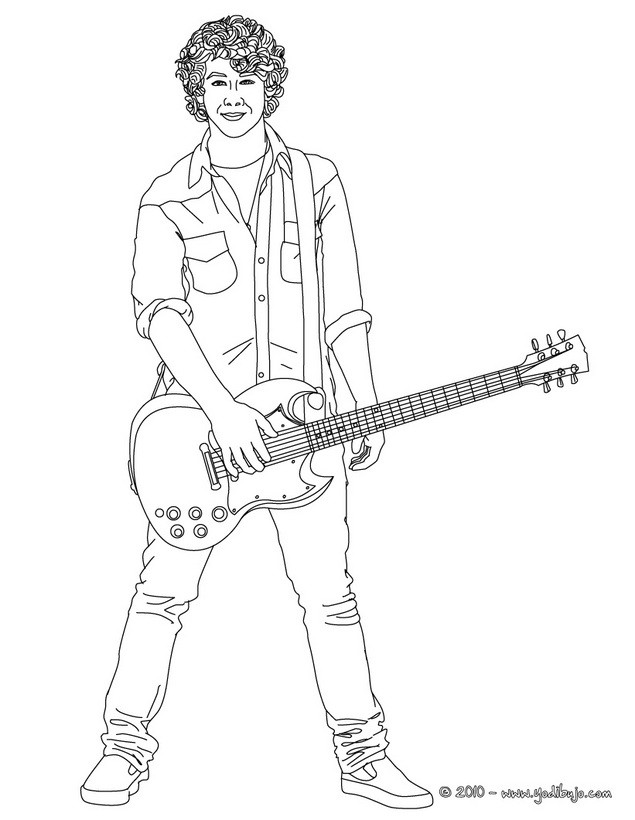 Nick jonas coloring pages coloring home for Jonas coloring pages