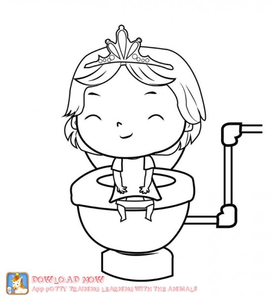 Printable Going Potty Coloring Pages AZ Coloring Pages