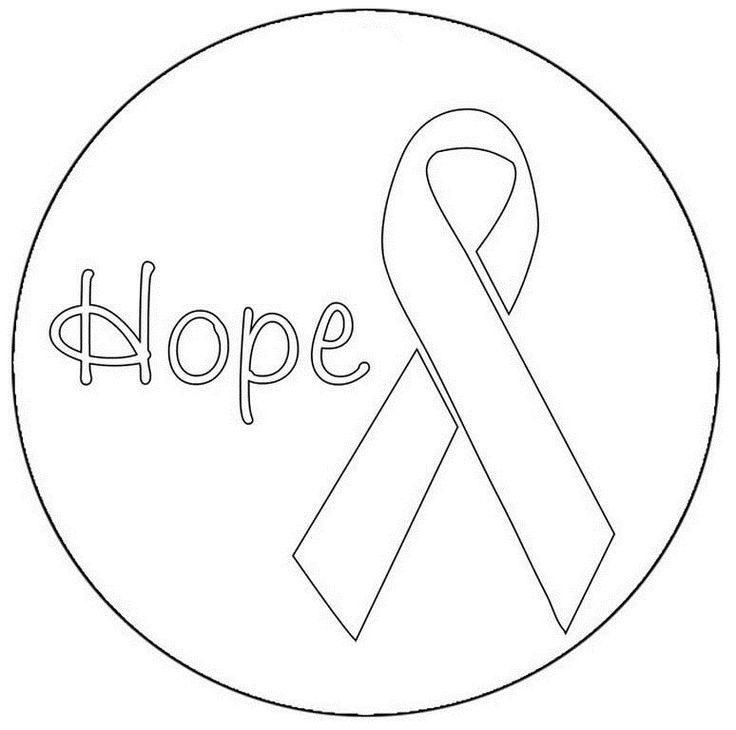 Pink Ribbon Coloring Pages Coloring Home