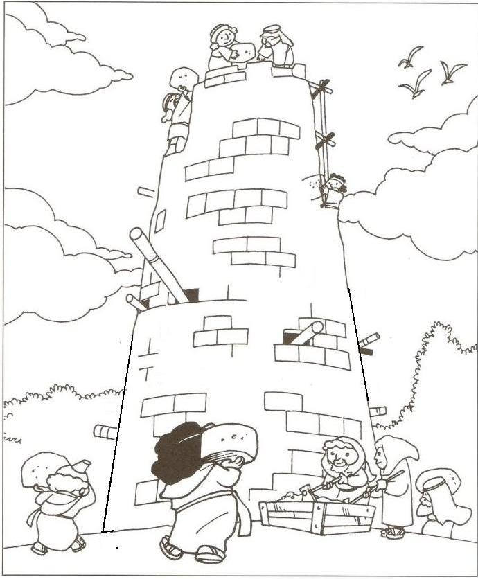 Bible: Tower of Babel Coloring Page