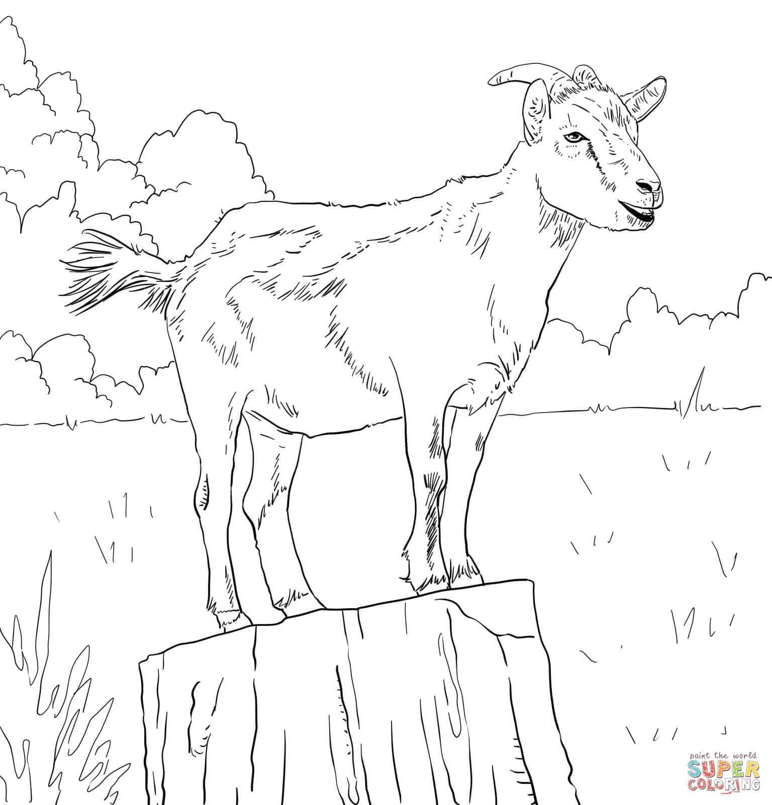 g for goat coloring pages - photo #42