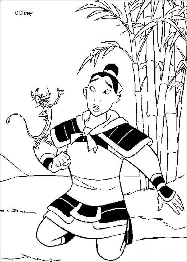 Mulan And Mushu Coloring Pages Coloring Home