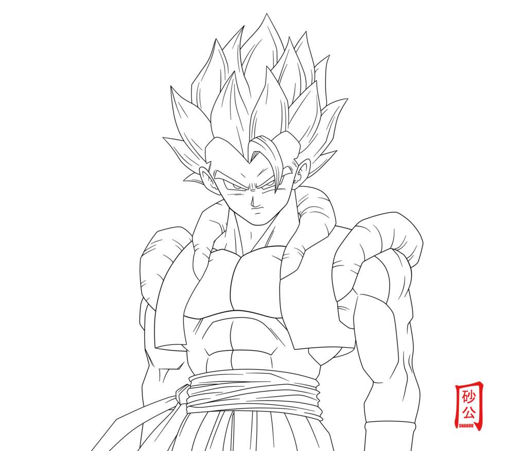 Dbz Gogeta Coloring Pages Coloring Home Gogeta Coloring Pages
