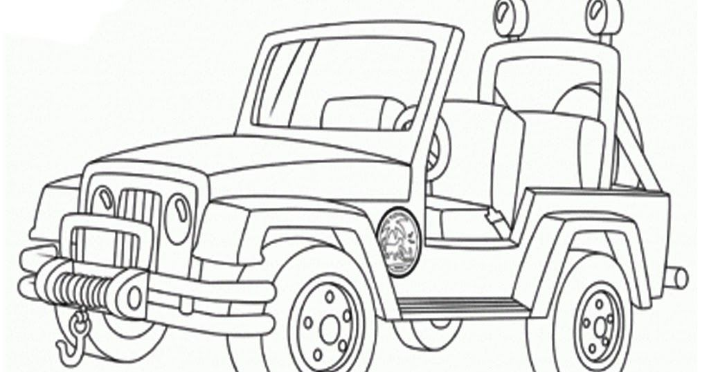 Military Jeep Coloring Pages
