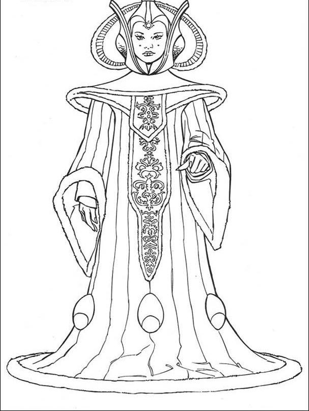 Star Wars Coloring Pages Pdf : Padme coloring pages home