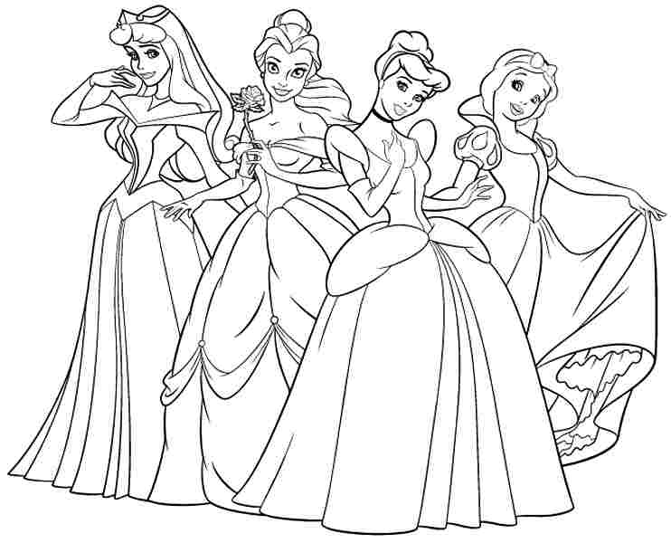 Coloring Pages Princess Pdf : Printable coloring pages disney princess
