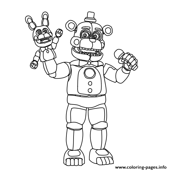 Fnaf Freddy Funtime Coloring Pages Printable