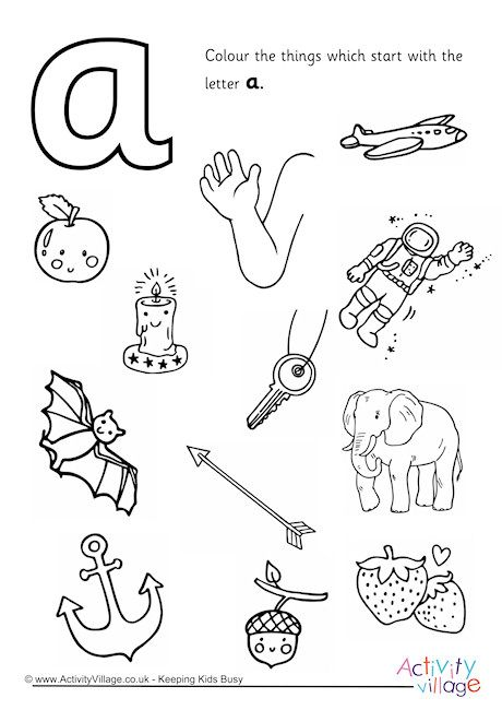 Start With The Letter A Colouring Page Letter A Coloring Pages Coloring Home