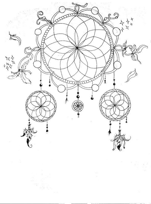 This is a graphic of Versatile Printable Adult Coloring Pages Dream Catchers
