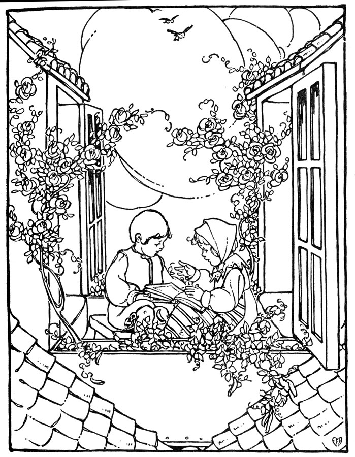 vintage coloring book pages vintage coloring pages on masivy world